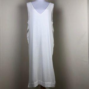 Free People White Linen Tunic Side Split Top